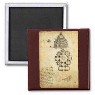 Aimant Croquis architectural par Leonardo da Vinci