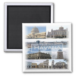 Aimant CU * Cuba - La Havane - mosaïque