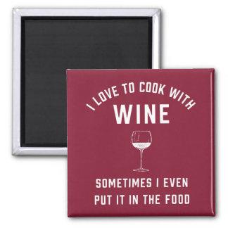 Aimant Cuisson avec du vin