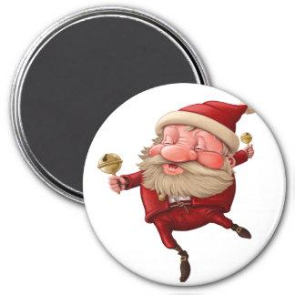 Aimant Danse de cloches de Noël du père noël