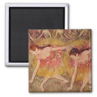 Aimant Danseurs d'Edgar Degas se pliant en bas de