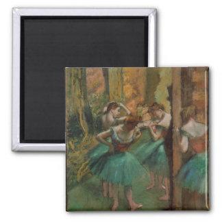 Aimant Danseurs rose et vert d'Edgar Degas