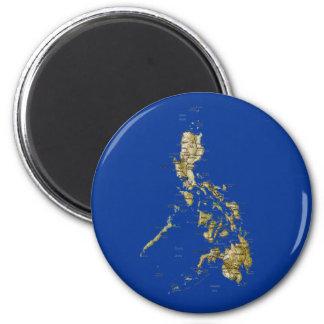Aimant de carte de Philippines