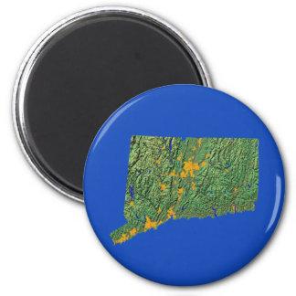 Aimant de carte du Connecticut