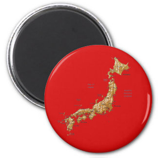Aimant de carte du Japon
