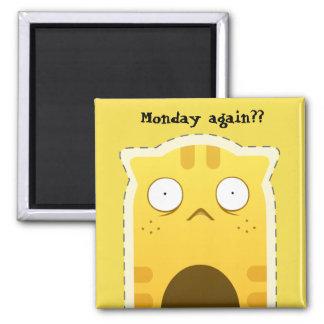 Aimant de chat de lundi