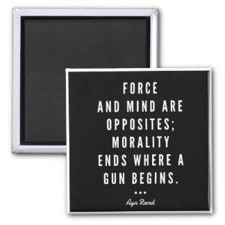 Aimant de citation d'arme à feu d'Ayn Rand