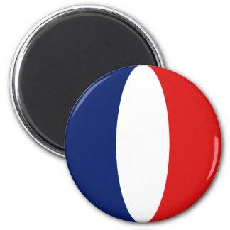 Aimant de drapeau de la France Fisheye