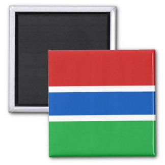 Aimant de drapeau de la Gambie