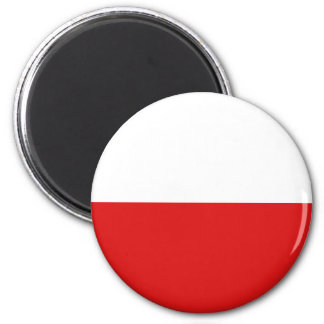 Aimant de drapeau de la Pologne Fisheye