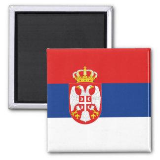 Aimant de drapeau de la Serbie