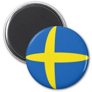 Aimant de drapeau de la Suède Fisheye