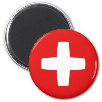 Aimant de drapeau de la Suisse Fisheye