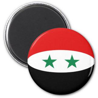 Aimant de drapeau de la Syrie Fisheye