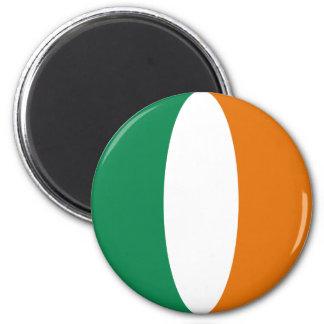 Aimant de drapeau de l'Irlande Fisheye