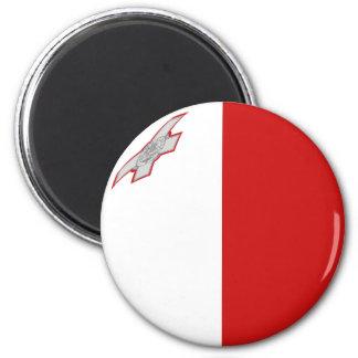Aimant de drapeau de Malte Fisheye