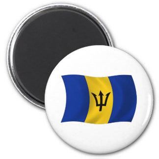 Aimant de drapeau des Barbade