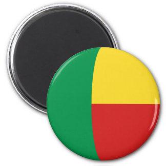 Aimant de drapeau du Bénin Fisheye