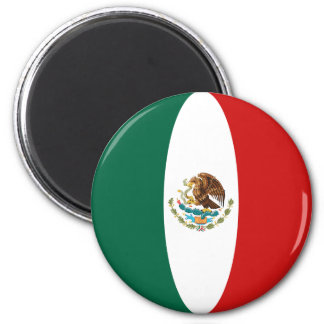Aimant de drapeau du Mexique Fisheye