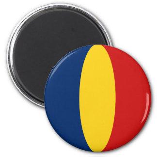 Aimant de drapeau du Tchad Fisheye