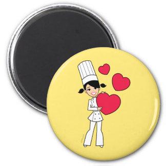 Aimant de fille de cuisson