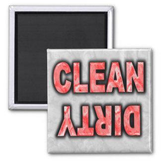 Aimant de lave-vaisselle : NETTOYEZ SALE