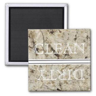 Aimant de marbre de lave-vaisselle de style propre