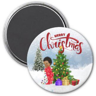 Aimant de Noël de bébé d'Afro-américain