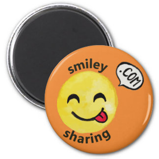 Aimant de partage souriant