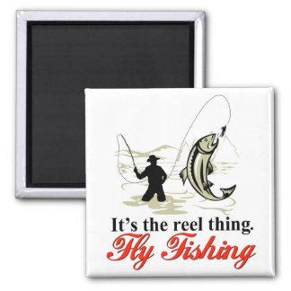 Aimant de pêche de mouche de bobine