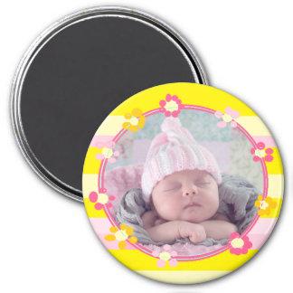 Aimant de photo de bébé, personnalisé avec votre