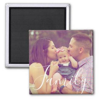 Aimant de photo de portrait de famille avec
