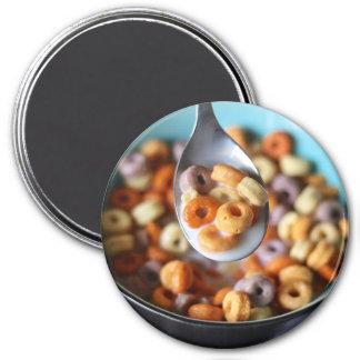 Aimant de réfrigérateur : Céréale et lait colorés
