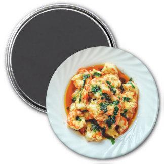 Aimant de réfrigérateur de dîner de crevettes