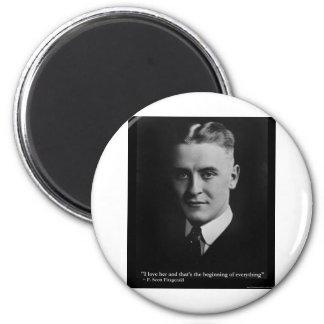 Aimant Début de Scott Fitzgerald cadeaux etc. de citation