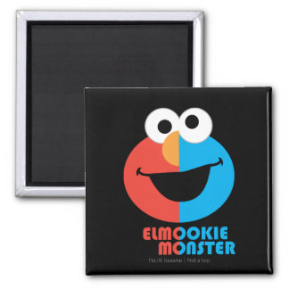 Aimant Demi de visage d'Elmo et de biscuit