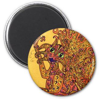 Aimant Dessin féerique du feu lunatique coloré mignon de