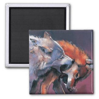 Aimant Deux loups