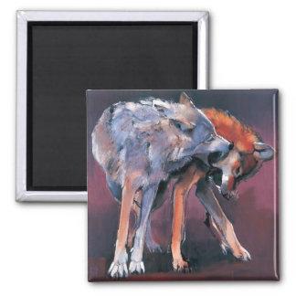 Aimant Deux loups 2001