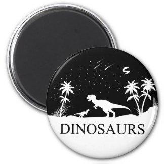 Aimant Dinosaure sous les étoiles