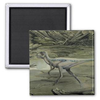 Aimant Dinosaures vintages, un Hypsilophodon crétacé