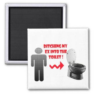 Aimant Dissolution drôle ex dans la toilette