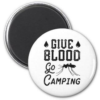 Aimant Donnez le sang vont camper