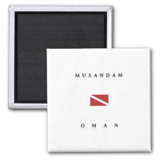 Aimant Drapeau de piqué de scaphandre de Musandam Oman