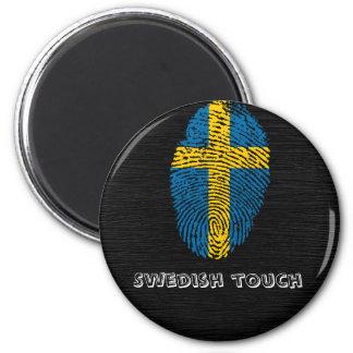Aimant Drapeau d'empreinte digitale de contact de Suédois