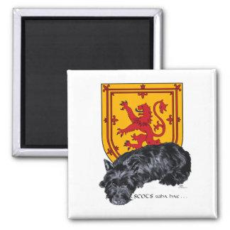 Aimant Drapeau effréné de lion de chien de Scottie
