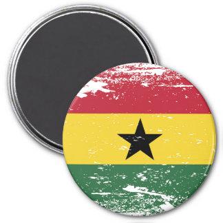 Aimant Drapeau grunge du Ghana
