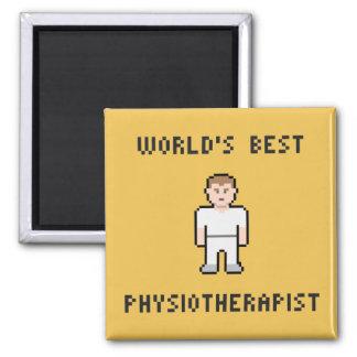 Aimant du physiothérapeute du monde de pixel le