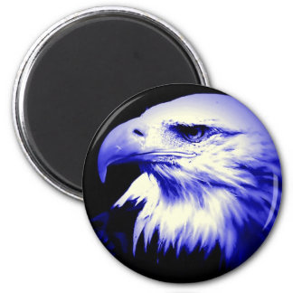 Aimant Eagle chauve bleu