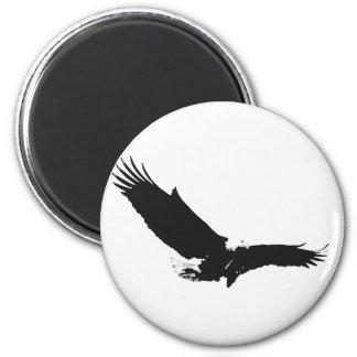 Aimant Eagle de débarquement noir et blanc
